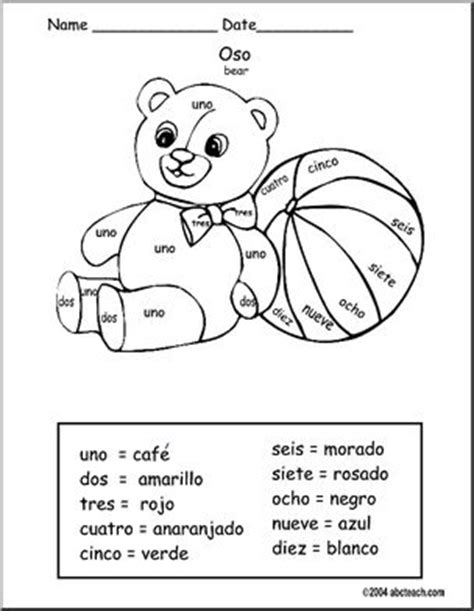 free spanish coloring pages numbers free printable color by numbers in spanish color by
