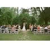 Pretty Garden Wedding  Once Wed