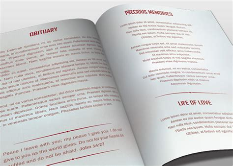 51 Obituary Templates Doc Pdf Psd Free Premium Templates Bi Fold Program Template