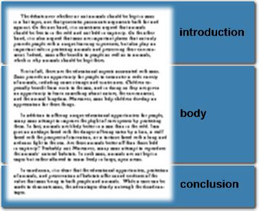 structure of essay body toefl essay structure part 1