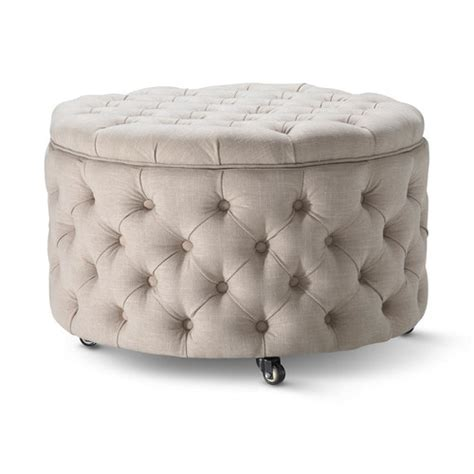 taupe storage ottoman large taupe emma storage ottoman temple webster