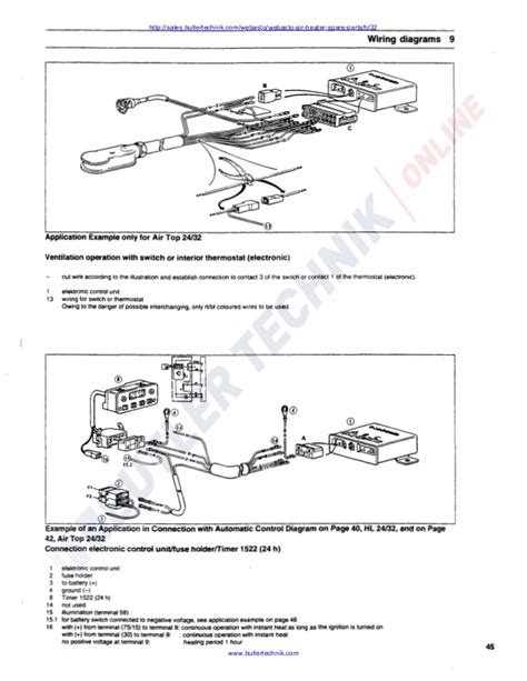 webasto thermostat wiring diagram efcaviation