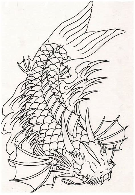 dragon tattoo outline designs 24 fish designs