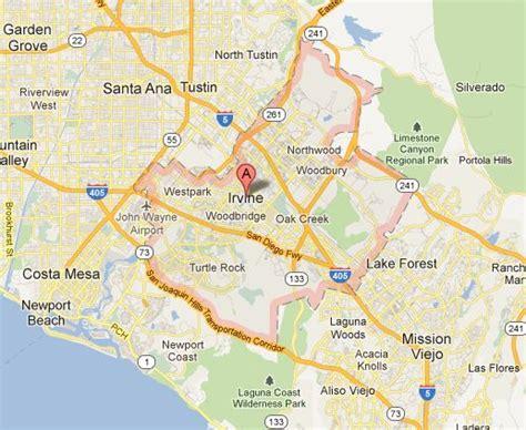 california map irvine ca california map irvine