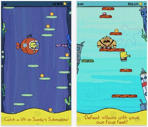doodle jump spongebob doodle jump spongebob squarepants goes free as apple s app