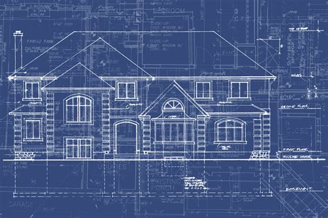 Keeping The Stress Out Of A New Home Construction Project Blueprint Of Mansion House