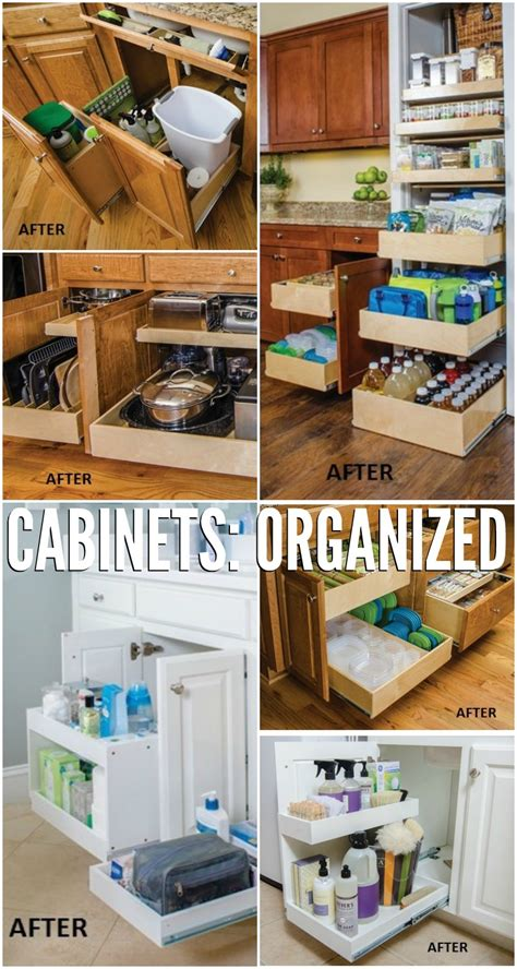 cabinet organization ideas remodelaholic convenient and space saving cabinet