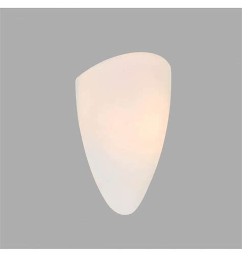 applique vetro applique design ovale bianco vetro