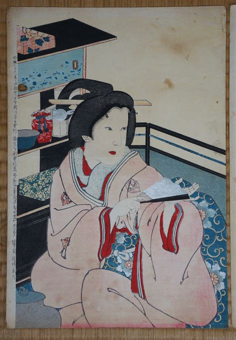 japanese paper craft antique japanese wood block print 1880s japan craft