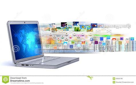 Laptop Multimedia multimedia laptop stock photo image 26555780