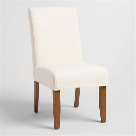 Linen Slipcovered Dining Chairs Linen Chair Slipcover World Market