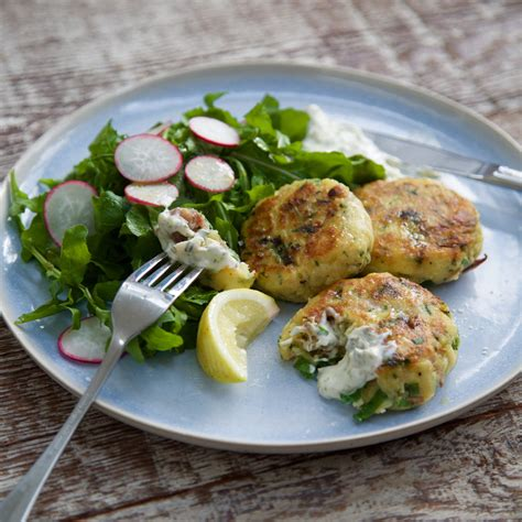 Poached Salmon Recipes by Smoked Fish Cakes With Lemon Caper Mayo Nadia Lim