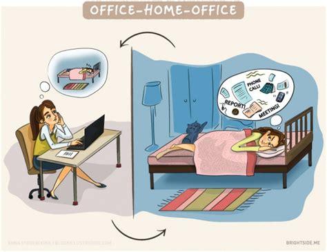 lavori in ufficio illustrazioni che descrivono la vita lavoro in ufficio