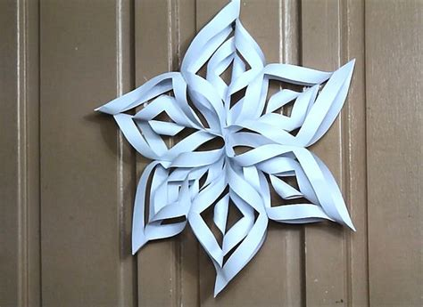 How Do You Make A 3d Paper Snowflake - make a 3d paper snowflake beautiful birthdays and how