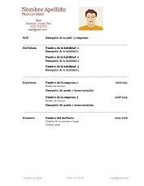 Bajar Modelo De Curriculum Vitae Para Completar Modelo Para Llenar De Curriculum Vitae Modelo De Curriculum Vitae