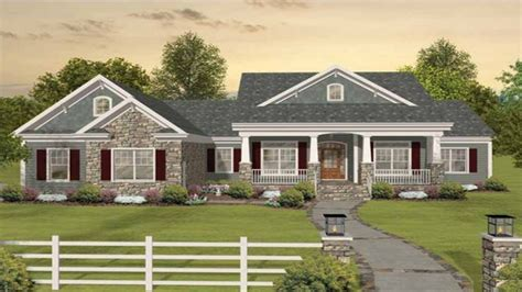 craftsman one story floor plans craftsman one story ranch