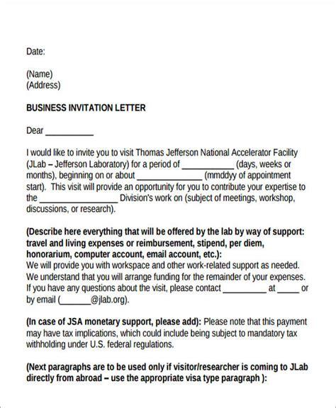 Invitation Letter Mandatory Meeting business meeting invitation letter sle business