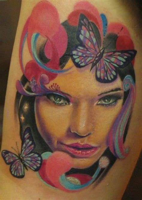 woman face tattoo designs pase beautiful design portrait