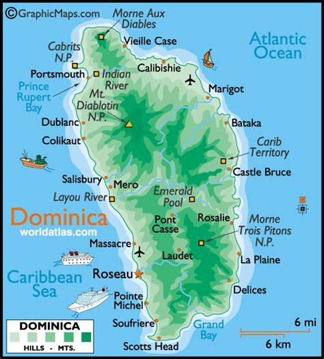 dominica on a map dominica caribbean wi villa vidal guest comments