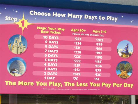 costo ingresso eurodisney disney parks raising ticket prices disney unofficial