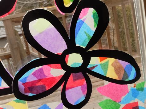 Tissue Paper Stained Glass Craft - tissue paper s a craft project