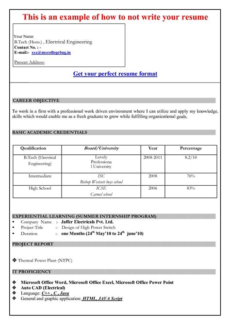 Model Resume Format by Model Resume Template Health Symptoms And Cure