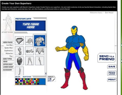 marvel create your own web apps
