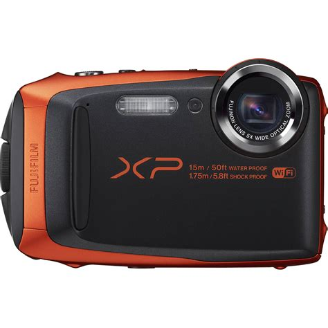 fuji digital fujifilm finepix xp90 digital orange 16500337 b h