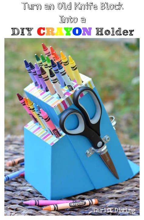 turn  knife block   diy craft holder knife block ideas