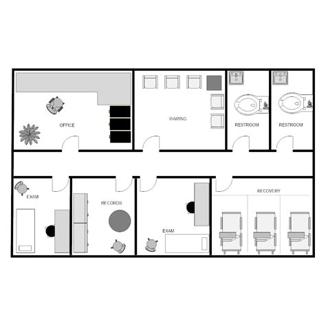 Clinic Floor Plans by Outpatient Clinic Facility Plan