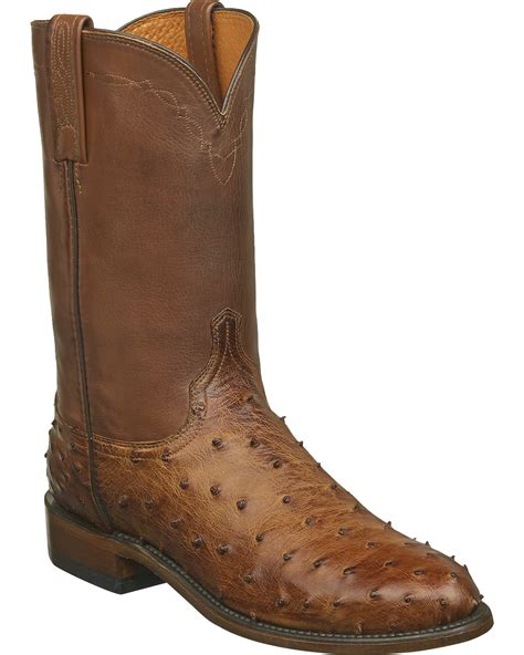 lucchese mens roper boots lucchese s zane quill ostrich roper boots