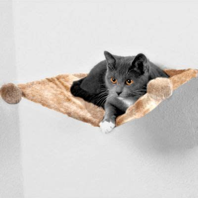 amache per gatti amaca da parete trixie in peluche zooplus