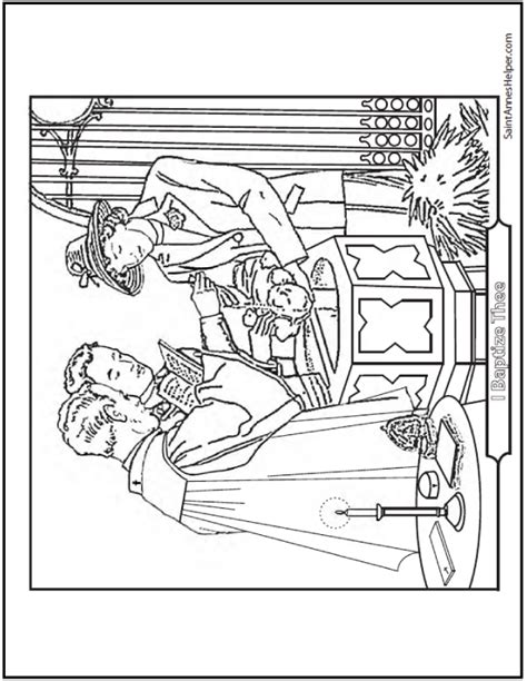 coloring pages baby baptism catholic sacraments coloring pages