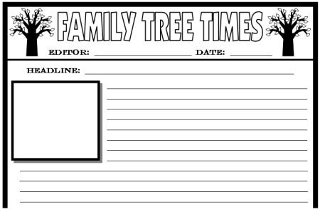 Newspaper Article Writing Template For Kids 100 Original Attractionsxpress Com Family Newspaper Template