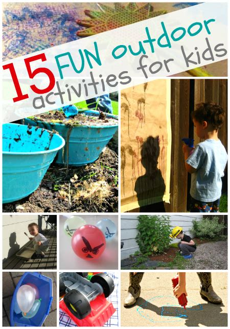 backyard activities for kids 15 fun outdoor activities for kids no time for flash cards