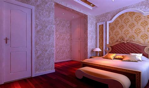 desain wallpaper kamar tidur utama mewah interior rumah