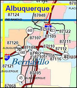 Abq Zip Code Map by New Mexico Zip Code Map Including County Maps