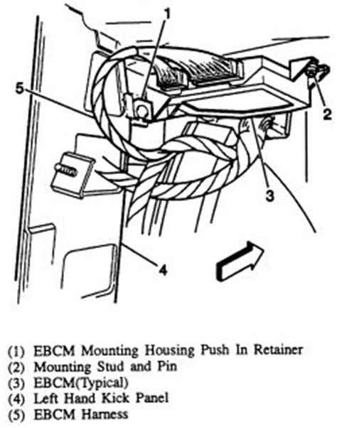 repair anti lock braking 1993 pontiac firebird instrument cluster repair guides anti lock brake system abs electronic brake control module ebcm