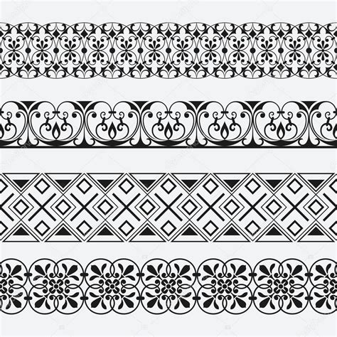 pattern vector border seamless floral ornamental border vector patterns stock