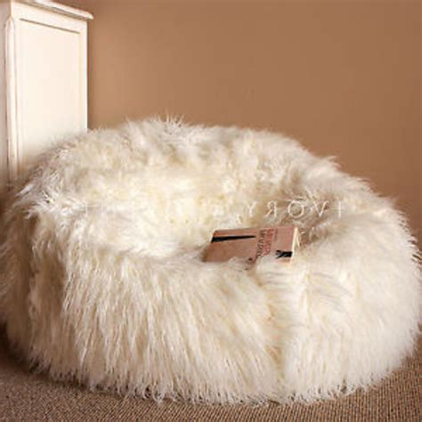 big white fluffy bean bag 6ft sheepskin bean bag chair large bags ikea to