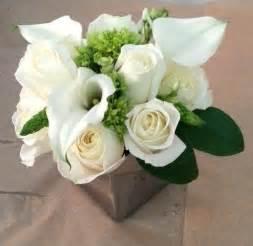 white flower arrangements white calla flower arrangement