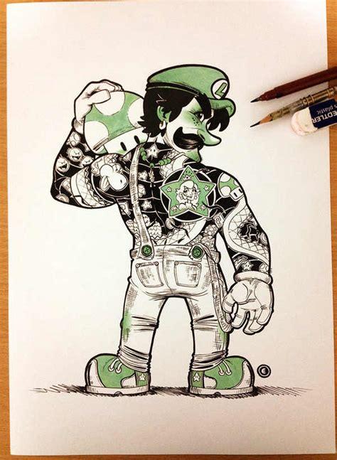 imagenes de tatuajes de videojuegos tatuajes yakuza en personajes de super mario