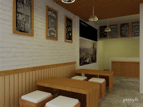 layout cafe minimalis gambar amang interior design simple cafe konsep sederhana