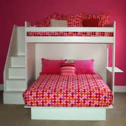 Girls Bunk Beds With Desk And Stairs » Home Design 2017