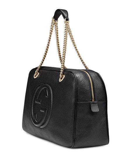 J Gucci Soho Kas gucci soho leather chain shoulder bag black