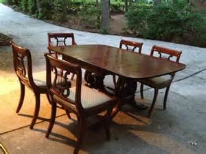 Vintage Dining Room Table And Chairs Antique Drexel Dining Room Table And Chairs By Eclecticshed