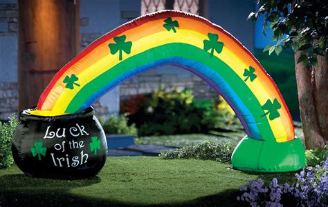 ebay outdoor decorations st patricks day pot of gold w rainbow lighted