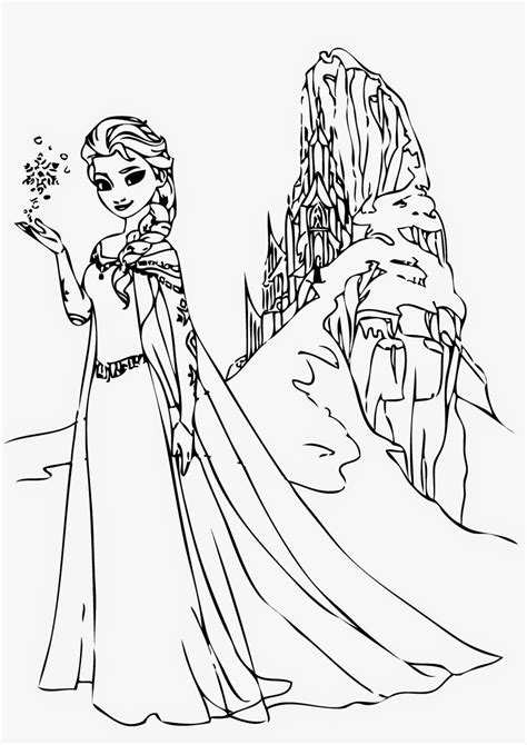 free coloring pages of elsa frozen