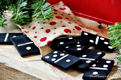 Handmade Dominoes - handmade gift idea paint stick dominoes thistlewood farm