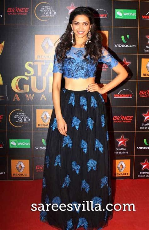 deepika padukone awards deepika padukone at star guild awards 2014 sarees villa